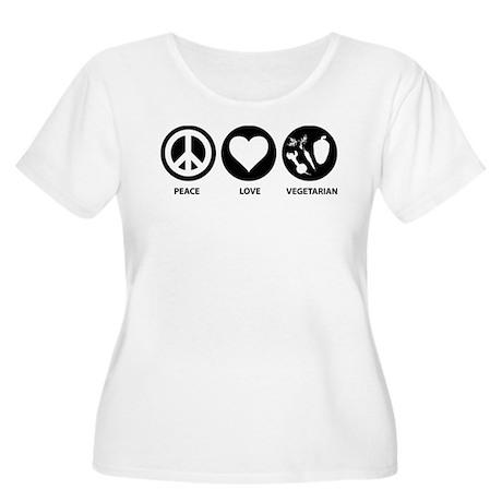 Peace Love Vegetarian Women's Plus Size Scoop Neck