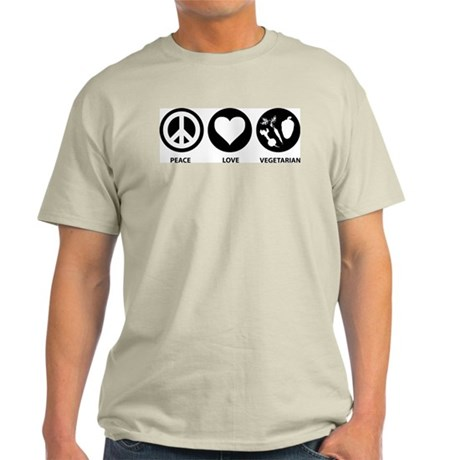 Peace Love Vegetarian Light T-Shirt