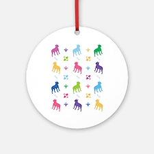 Boston Terrier Designer Ornament (Round)
