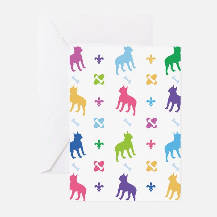 Boston Terrier Designer Greeting Cards (Pk of 20)