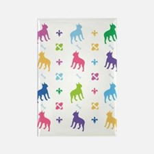 Boston Terrier Designer Rectangle Magnet