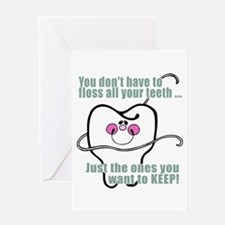 You don't have to floss Greeting Card