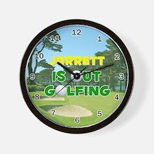 Jarrett is Out Golfing - Wall Clock