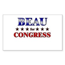 BEAU for congress Rectangle Decal