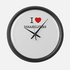 I Love DISABILITIES Large Wall Clock