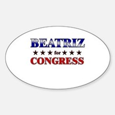 BEATRIZ for congress Oval Decal