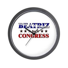 BEATRIZ for congress Wall Clock
