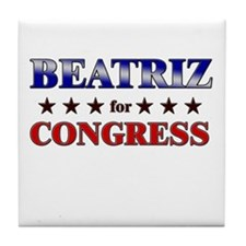 BEATRIZ for congress Tile Coaster
