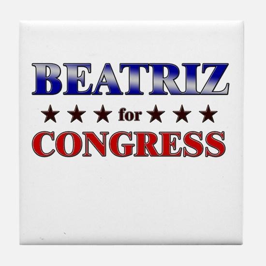 BEATRIZ for congress Tile Coaster