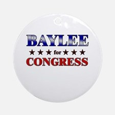 BAYLEE for congress Ornament (Round)