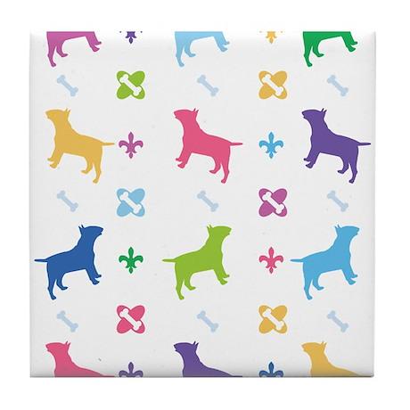 Bull Terrier Designer Tile Coaster