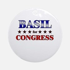 BASIL for congress Ornament (Round)