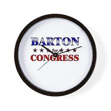 BARTON for congress Wall Clock