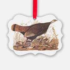 Wild Turkey Hen With Chicks Ornament