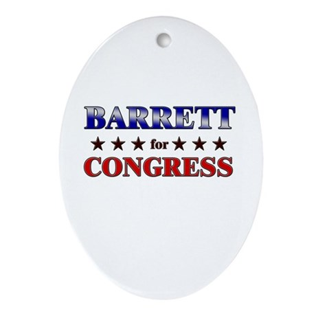 BARRETT for congress Oval Ornament