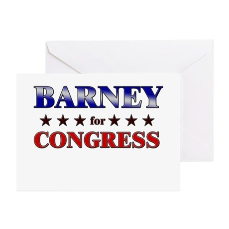 BARNEY for congress Greeting Cards (Pk of 20)