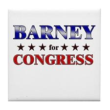 BARNEY for congress Tile Coaster