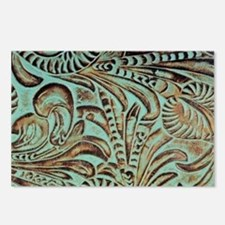 Western country Turquoise Postcards (Package of 8)