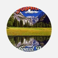 Yosemite National Park Round Ornament