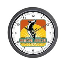Animal Rescue Dolphin Wall Clock