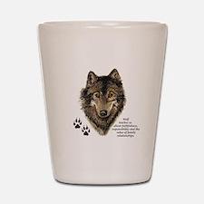 Wolf Totem Animal Guide Watercolor Natu Shot Glass