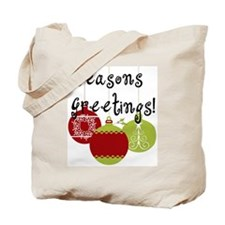 Season's Greetings Ornaments Tote Bag