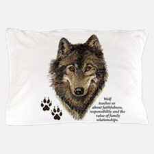Wolf Totem Animal Guide Watercolor Nat Pillow Case