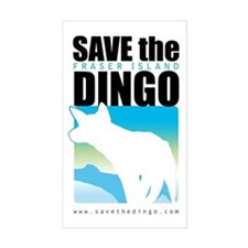 SAVE THE DINGO Rectangle Stickers