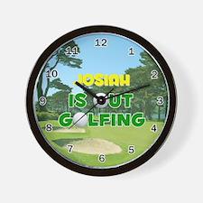 Josiah is Out Golfing - Wall Clock