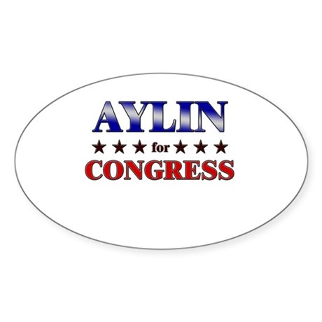 AYLIN for congress Oval Sticker