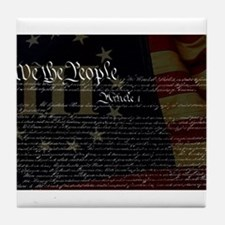 U.S. Outline - Constitution Tile Coaster