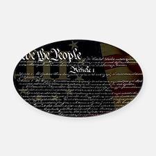 U.S. Outline - Constitution Oval Car Magnet
