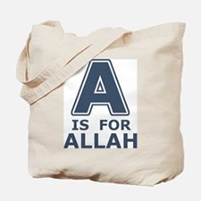 A is for Allah Tote Bag