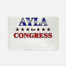 AYLA for congress Rectangle Magnet