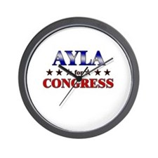 AYLA for congress Wall Clock