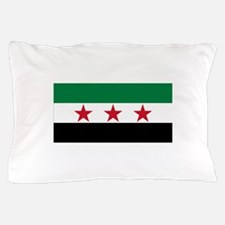 Free Syrian Republic Flag Pillow Case