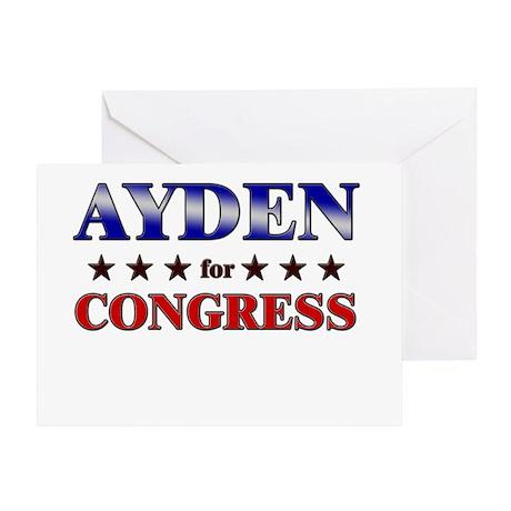 AYDEN for congress Greeting Card