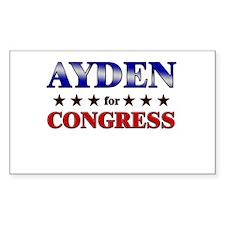 AYDEN for congress Rectangle Decal