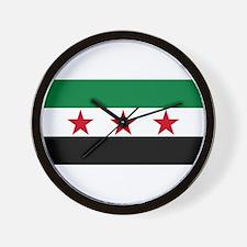 Free Syrian Republic Flag Wall Clock