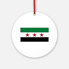 Free Syrian Republic Flag Round Ornament