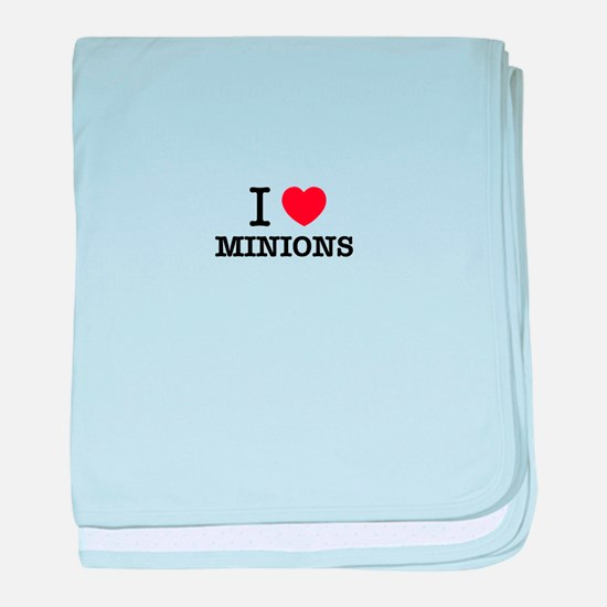 I Love MINIONS baby blanket