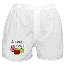 Season's Greetings Ornaments Boxer Shorts