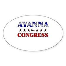 AYANNA for congress Oval Decal