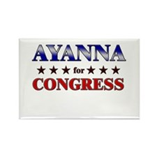 AYANNA for congress Rectangle Magnet