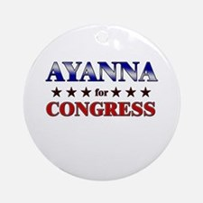 AYANNA for congress Ornament (Round)