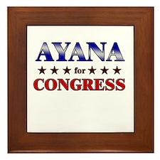 AYANA for congress Framed Tile