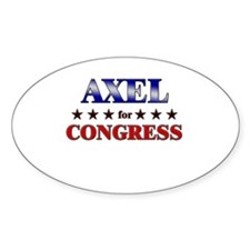 AXEL for congress Oval Decal