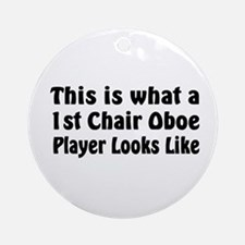1st Chair Oboe Player Ornament (Round)