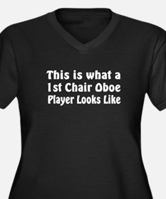 1st Chair Oboe Player Women's Plus Size V-Neck Dar
