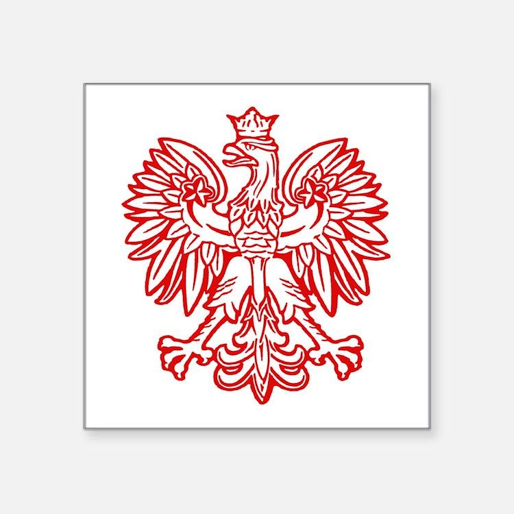 Polish Eagle Emblem Oval Sticker